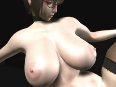 Bigtitted 3D cartoon teacher giving her student a fucking hot lesson