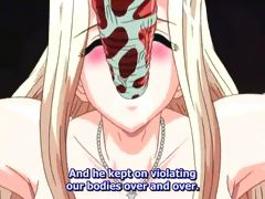 Hentai bride tied and banged deeply by red tentacles