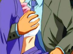 Hentai anime secretary in sexy lingerie gets banged in the office